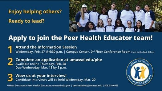 Peer Health Educator Recruitment Information Session