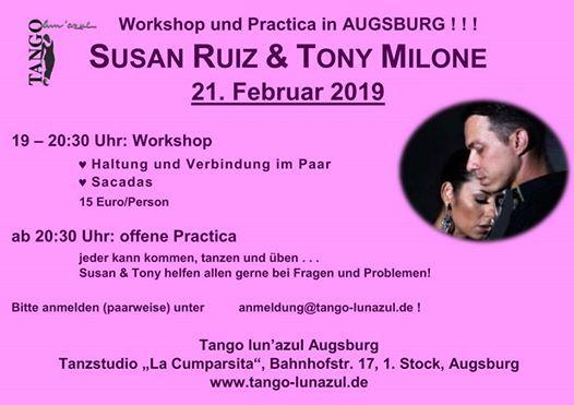 Workshop und Practica mit Susan Ruiz & Tony Milone