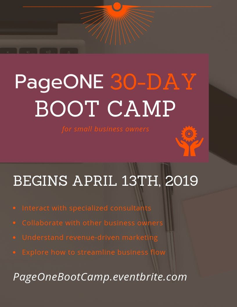 Page One Business BootCamp