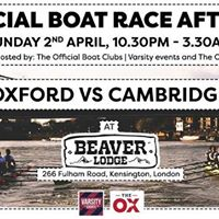 The Official BOAT RACE After Party hosted by OUBC