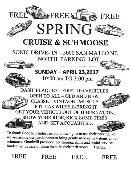 Spring Cruise and Schmoose at Sonic Drive-In, Albuquerque