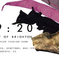B1920  University of Brighton 1st &amp 2nd Year Fashion Show