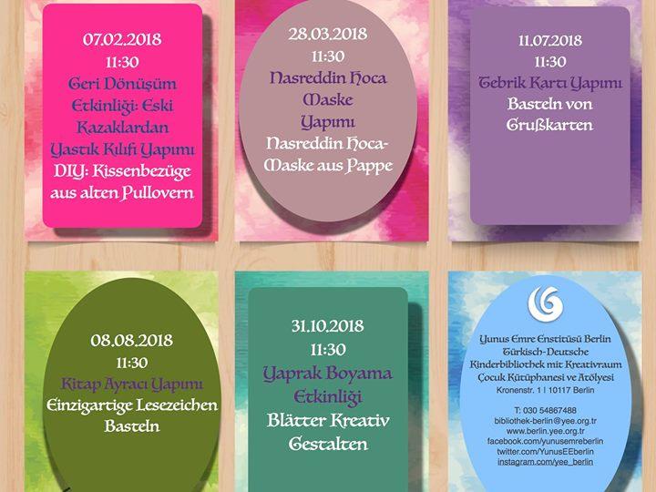 Ferienprogramm 2018 Elisi Ve Kitap Okuma Etkinlikleri 2018 At