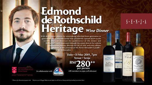 Edmond de Rothschild Heritage Wine Dinner at Senja