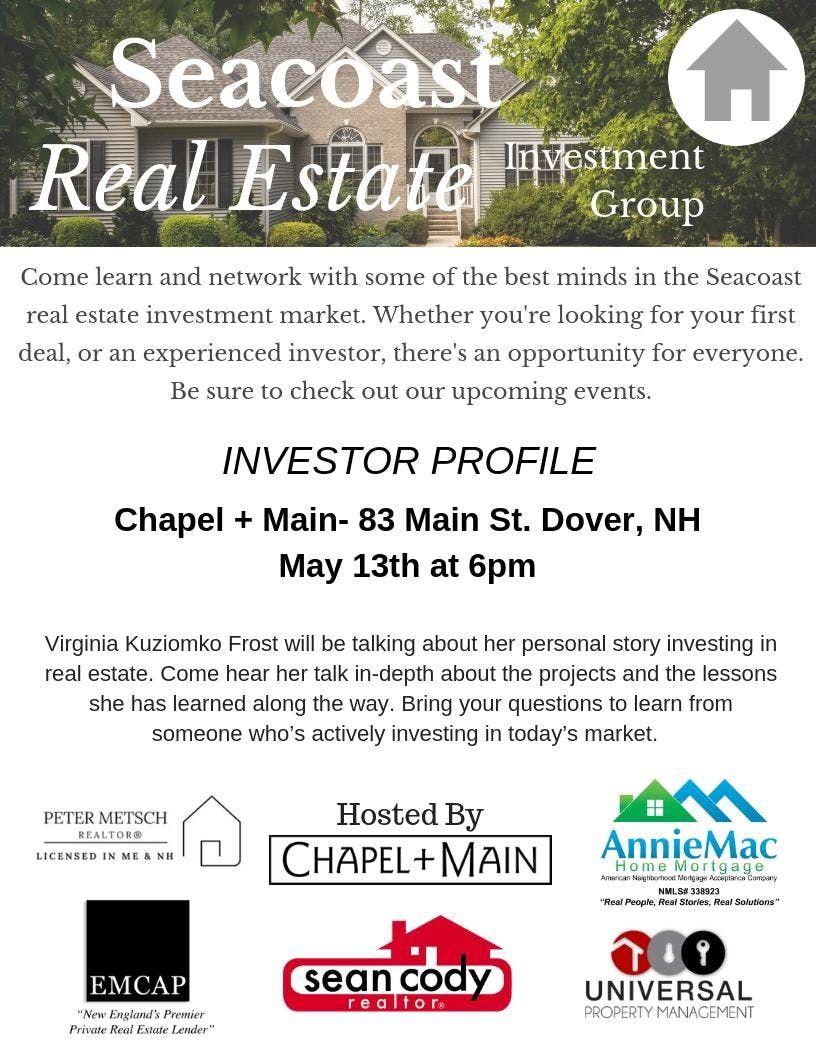 Seacoast Real Estate Investment Group Meetup at Chapel + Main