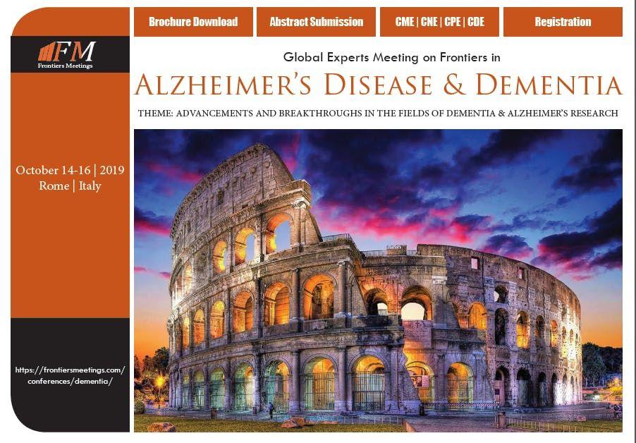 Global Experts Meeting on Frontiers in Alzheimers Disease & Dementia