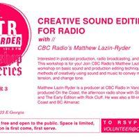 Creative Sound Editing for Radio Workshop