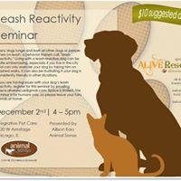 Leash Reactivity Seminar