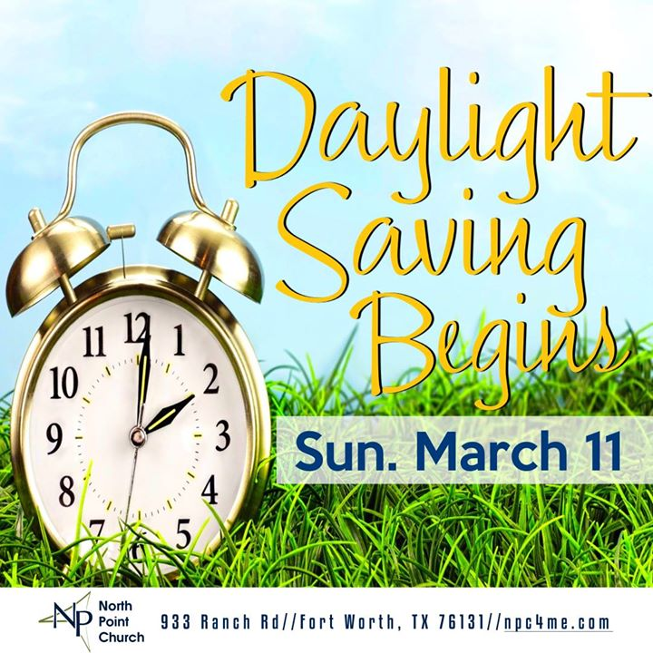 North Points Reminder for Daylight Saving Time
