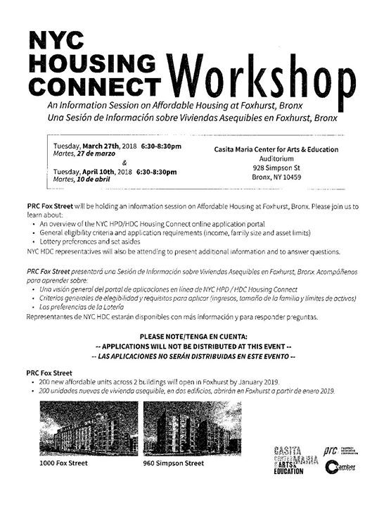 Nyc Housing Connect Workshop