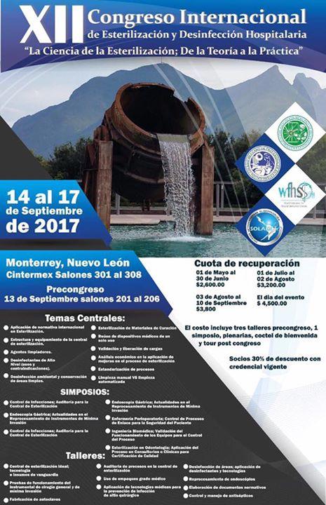 XII Congreso Internacional de Esterilizacin y desinfeccin hospitalaria