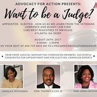 Want to be a Judge A seminar for those interested in the bench