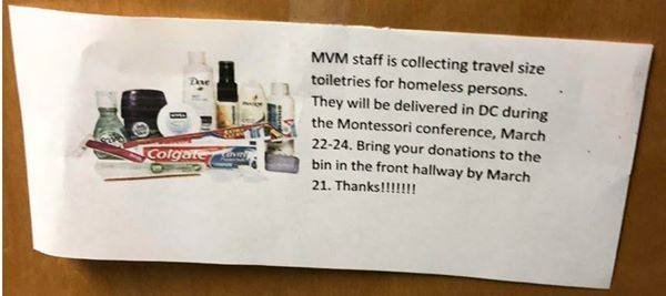 MVM Staff Collection for the Homeless