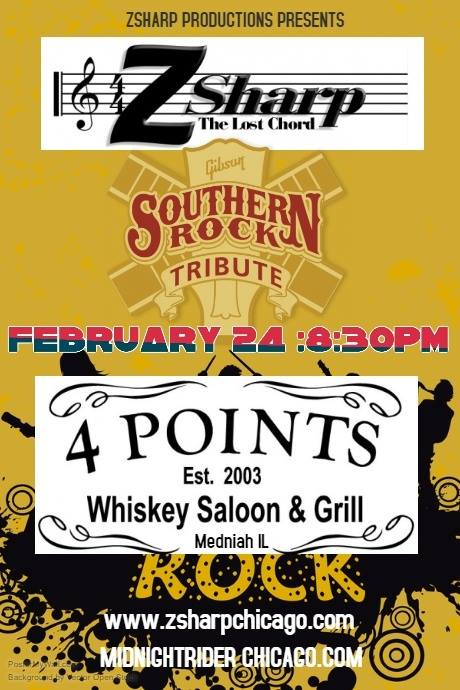 Z Sharp Presents MidNight Rider at Four Points Whiskey Saloon ...