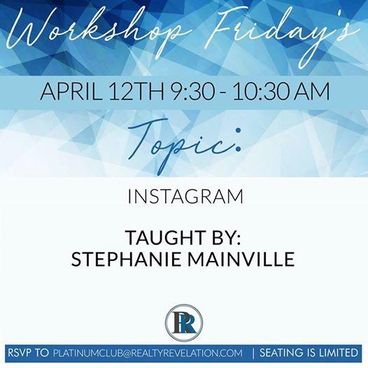 Workshop Friday Instagram