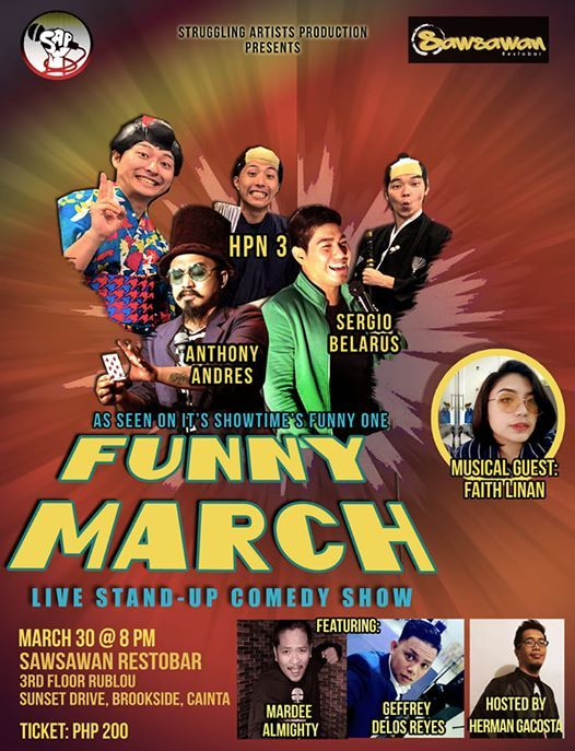 Funny March Live Stand-up Comedy Show