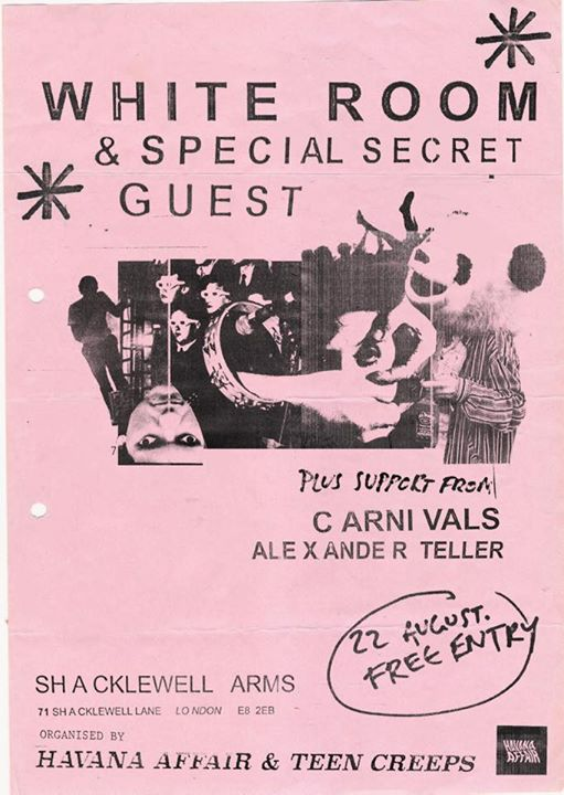 Alexander Teller Live. Supporting White Room at the Shacklewell Arms ...