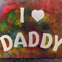 Fathers day Baby Canvas Studio I &lt3 Daddy
