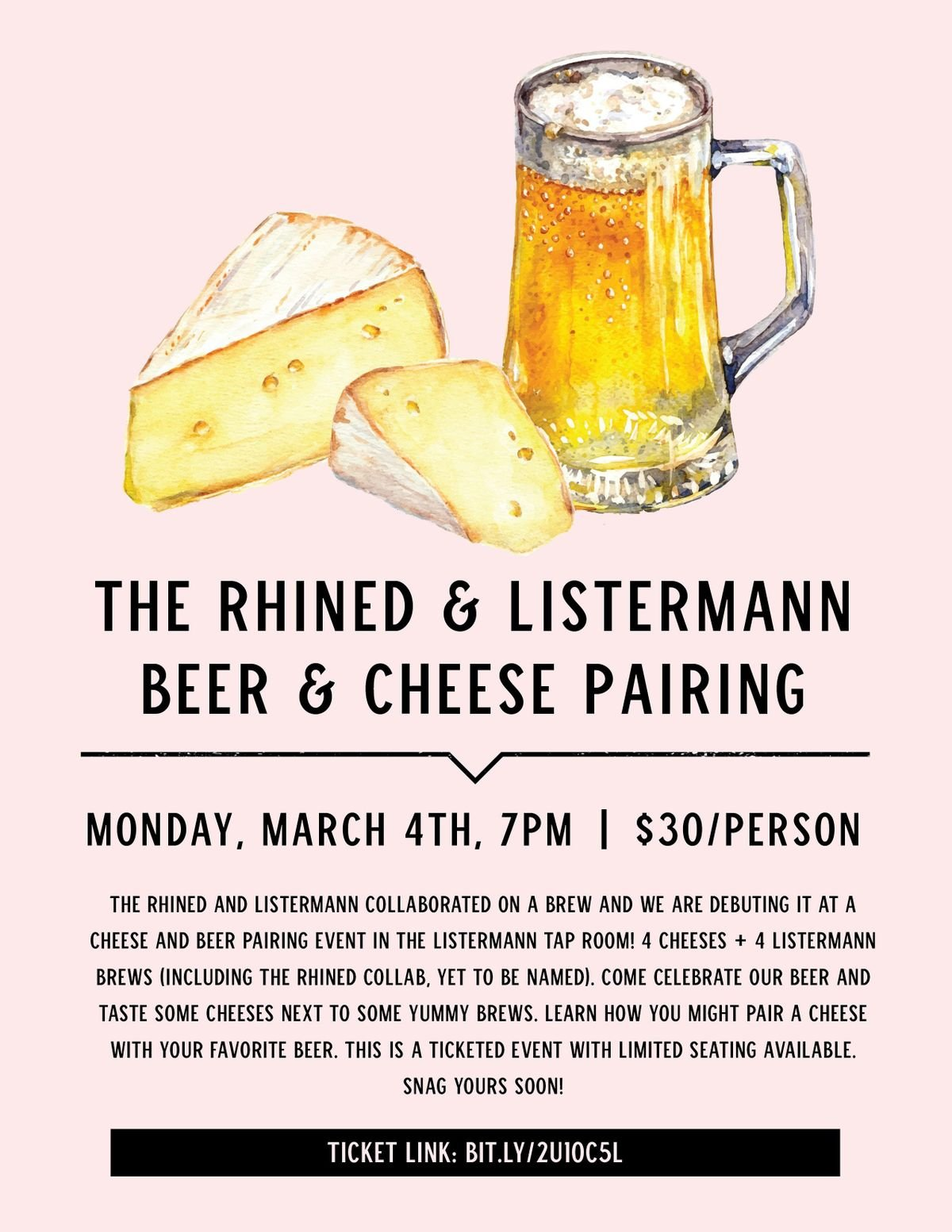 Beer and Cheese Pairing with The Rhined