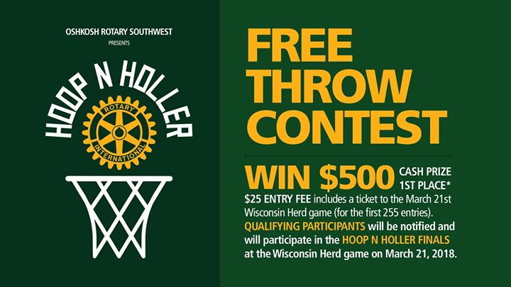 Hoop N Holler Free Throw Contest at Oshkosh Rotary Southwest