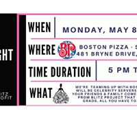 Join Us At Boston Pizza South Barrie May 8th 10% to Prom Blitz