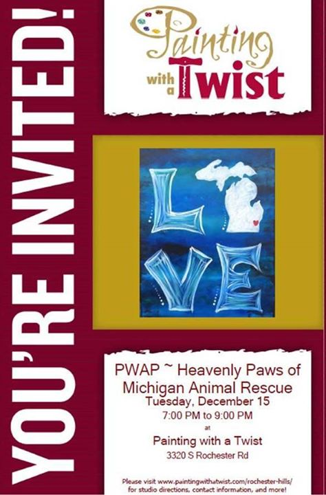 painting with a twist fundraiser for heavenly paws