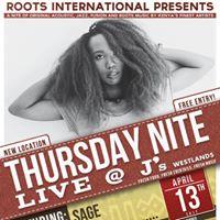 SAGE in concert Thursday Nite Live at Js Westlands