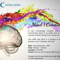 Mind Creativity Me - UWC Day 2017