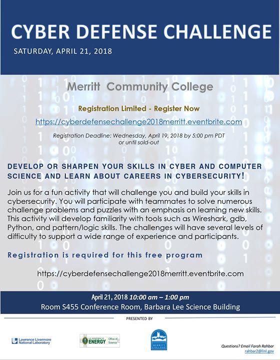Cyber Defense Challenge at Merritt College, Oakland