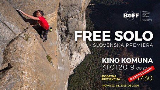 Free Solo - slovenska premiera