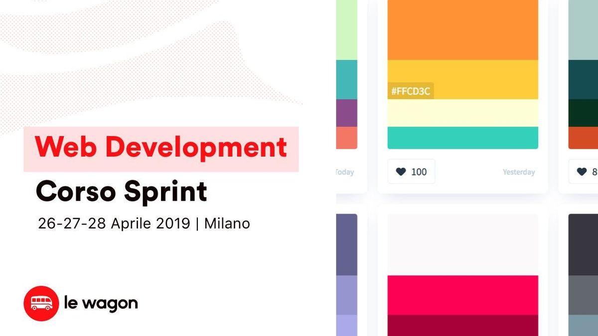 Corso Sprint di Web Develompent - Le Wagon Milano