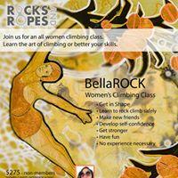 BellaROCK Womens climbing group day 1