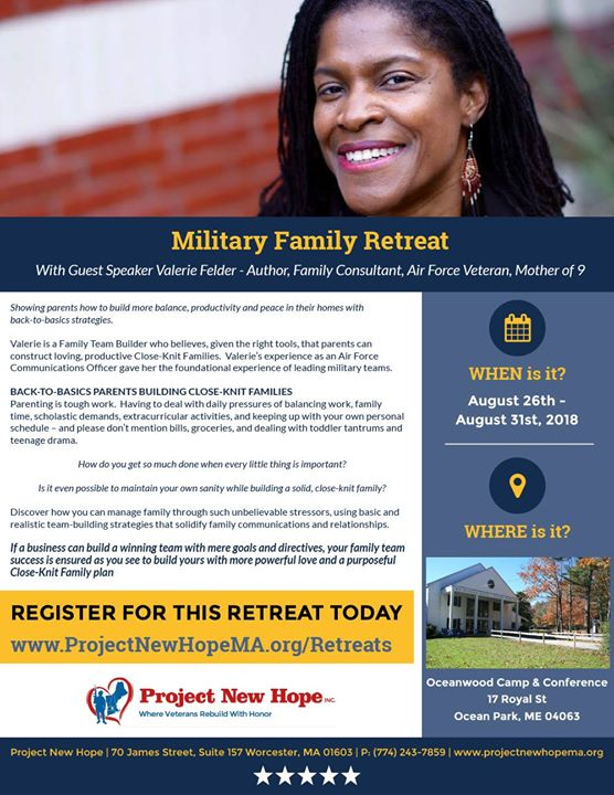 Retreat For Military Families With >> Military Family Retreat At Project New Hope Inc Non Profit Veterans