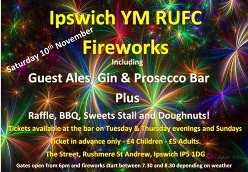 Ipswich YM RUFC Fireworks Event