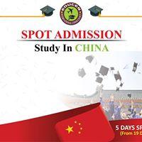 SPOT Admission Fair 100% Scholarship In China (Dhaka Zone)