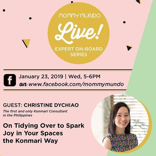 MM FB Live Tidying Over the KonMari Way with Christine Dychiao