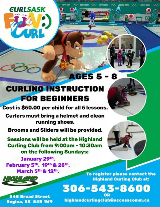 Fun Curl Curling Instruction For Ages 5 8 At Highland Curling Club