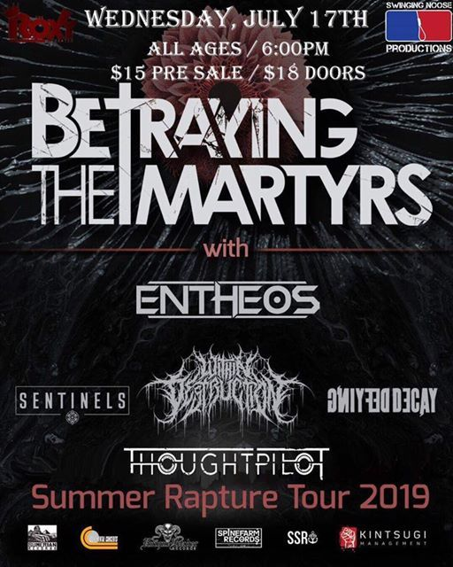SNP: Summer Rapture tour: Betraying the Martyrs, Entheos +