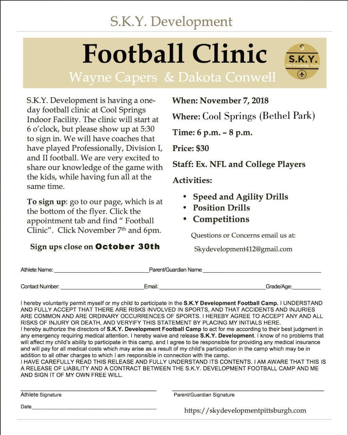 Sky Football Clinic