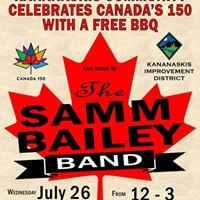 Canada 150 BBQ with music by Samm Bailey Band