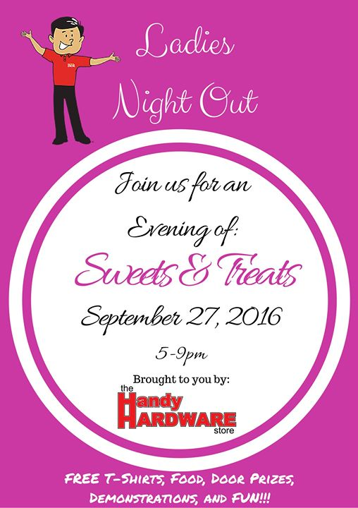 ladies night out at the handy hardware store 2016 beech island. Black Bedroom Furniture Sets. Home Design Ideas