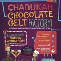 Chanukah Mad Science Show w Menorah Wiring &amp Chocolate Making