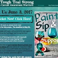 Paint Sip &amp Support Ovarian Cancer Fundraiser by Teal Tough