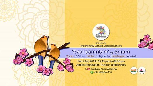 Gaanaamritam - by Sriram - 2nd Monthly Carnatic Concert of Tumbu