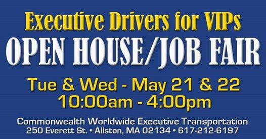 Executive Driver JOB FAIR! at Commonwealth Worldwide