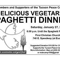 Tucson Peace Center Vegetarian Spaghetti Dinner