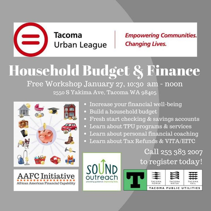 household budget finance workshop at the tacoma urban league tacoma