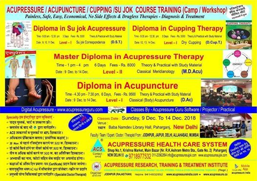 Acupressure,Acupuncture,Cupping Training Course at