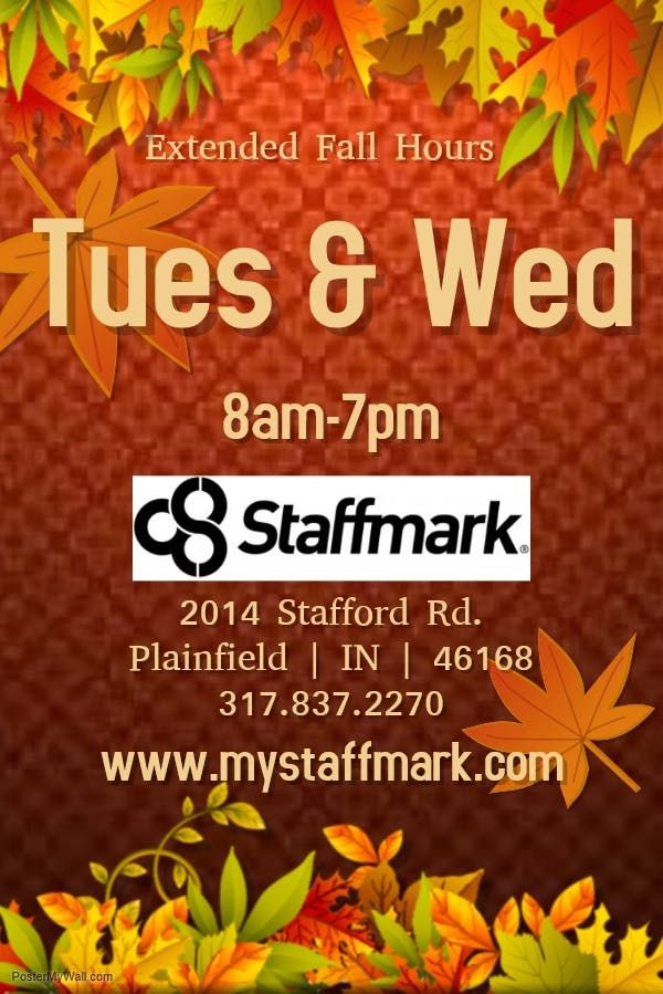 Staffmark Fall Extended Office Hours