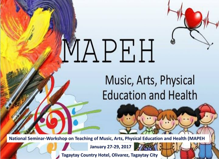 teaching mapeh Educational profile of the philippines  the american occupation was responsible for teaching the filipino people the english  health (mapeh): 1 hour 4 times a .